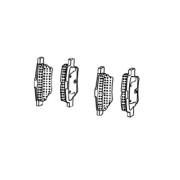 Колодки тормозные задние Geely Emgrand