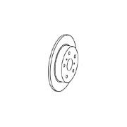 диск тормозной задний Geely Emgrand